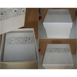 Scatola Quadrata Bianco...